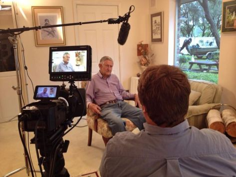Filming an interview with former U.S. FWS field supervisor, Jim Barkuloo