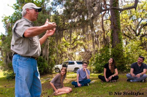 Author with a group of FSU students at Tall Timbers. Image by Nic Stoltzfus.