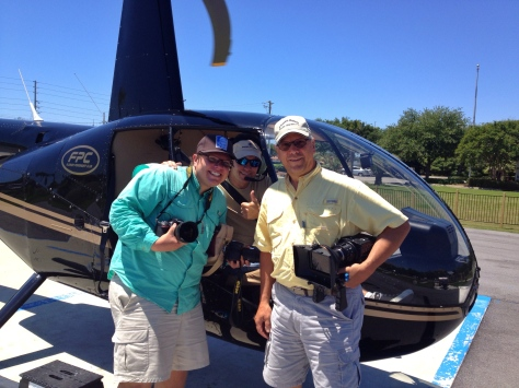 Nic, Mike, and Elam after a successful helicopter fly-over!